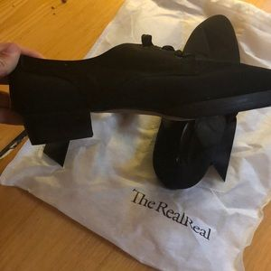 Yves saint Laurent vintage black shoes size 8 1/2